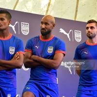 Ranbir Kapoor And The Mumbai City FC Footballers - Nicolas Anelka, Sunil Chhetri, Andre Moritz & Subrata Paul