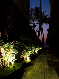 Pathway to the deck tables | Photo: Rubina A Khan