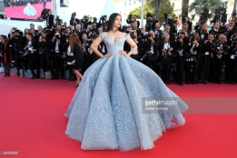Aishwarya Rai Bachchan attends the 'Okja' screening during the 70th annual Cannes Film Festival at Palais des Festivals on May 19, 2017 in Cannes, France