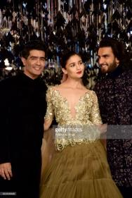 Manish Malhotra, Alia Bhatt and Ranveer Singh