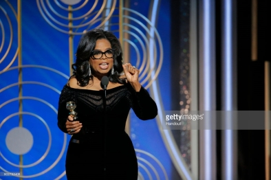 Oprah Winfrey at the 75th Annual Golden Globes
