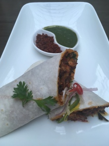Chicken Bhakri Roll with Raw Mango Chilli Relish | Photo: Rubina A Khan