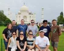 Kiwi Link at the Taj Mahal, Agra