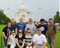 Kiwi Link at the Taj Mahal, Agra