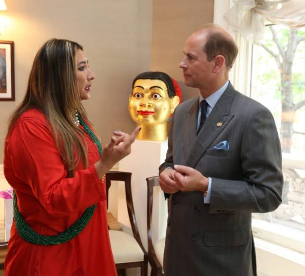 Meera Gandhi and HRH Prince Edward, the Earl of Wessex