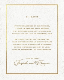 Deepika Padukone and Ranveer Singh's wedding announcement