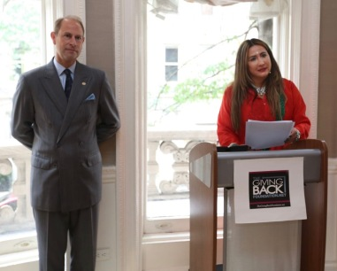 HRH Prince Edward, the Earl of Wessex and Meera Gandhi
