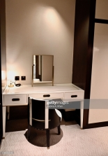 DOHA, QATAR - NOVEMBER 15: A dresser in the Junior Suite at the Mandarin Oriental Doha on November 15, 2019 in Doha, Qatar. (Photo by Rubina A. Khan/Getty Images)