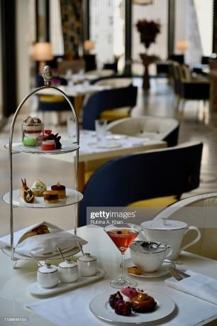DOHA, QATAR: Afternoon Tea at the Mandarin Lounge at the Mandarin Oriental, Doha in Qatar