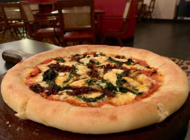 Goat Cheese & Spinach Pizza | Photo: Rubina A Khan
