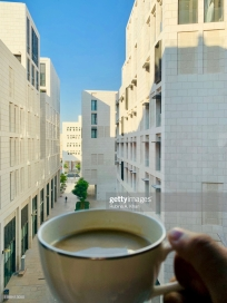 DOHA, QATAR: Morning views at the Mandarin Oriental, Doha in Qatar