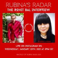 RUBINA'S RADAR – THE UNEDITED LIVE INTERVIEW SERIES